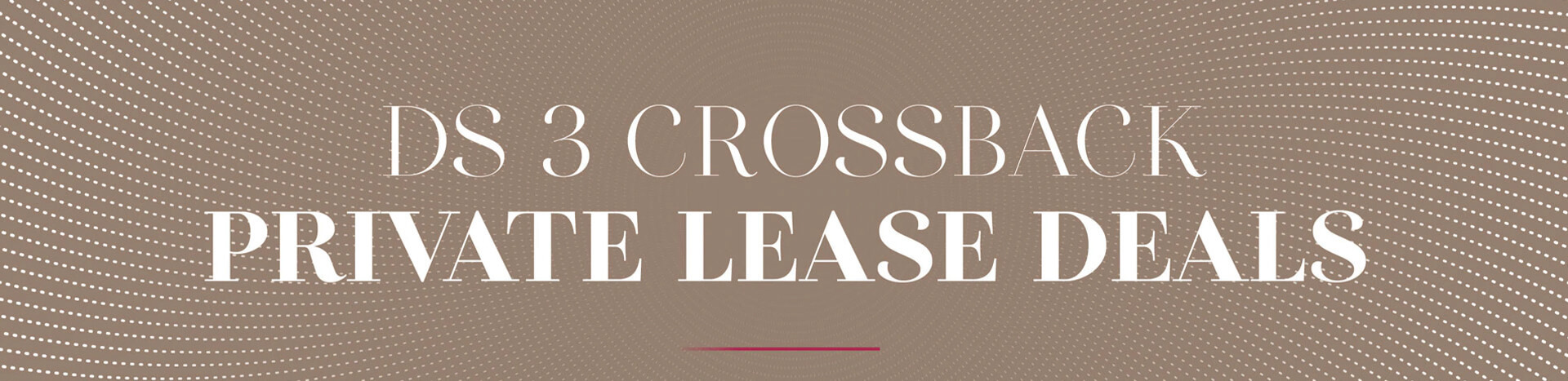 DS 3 Crossback Private Lease Deals